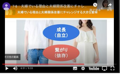 夫婦関係改善57日ステップ、第7章の動画
